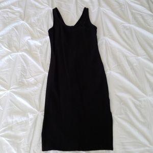 bar III black bodycon tank dress